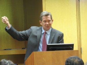 Judge Sutton with Arm Raised