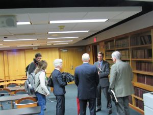 Sutton Meets for discussion with audience after speaking