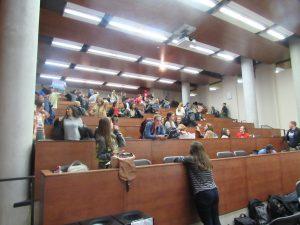 audience leaving