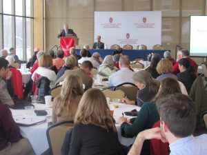 Charles Franklin Delivers keynote address