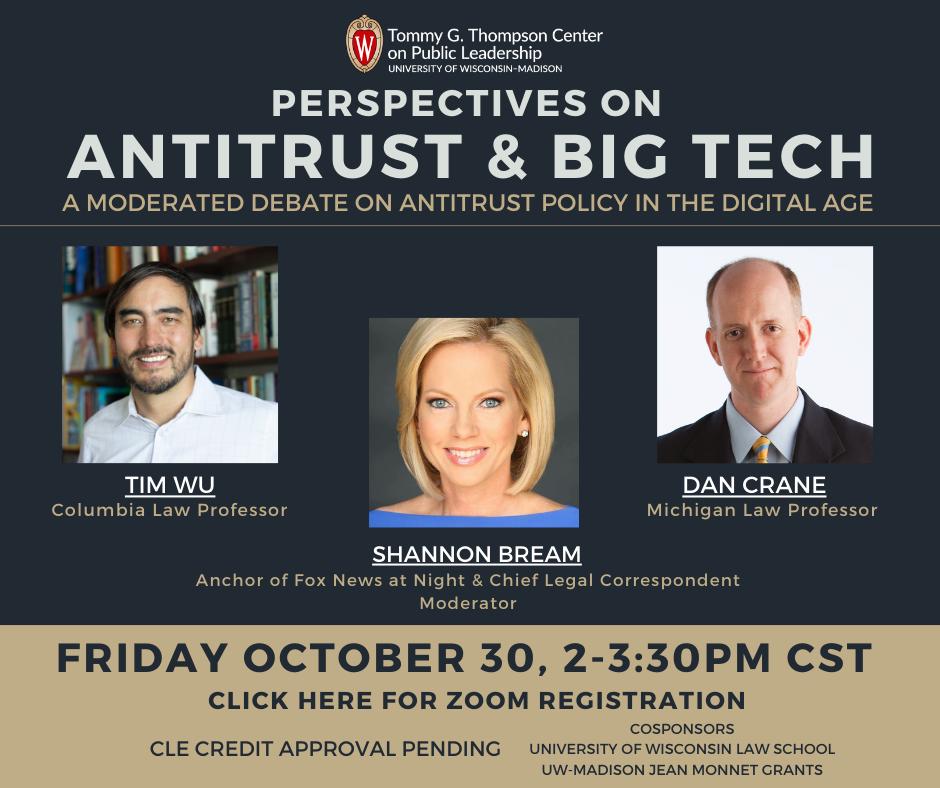Antitrust & Big Tech event announcement