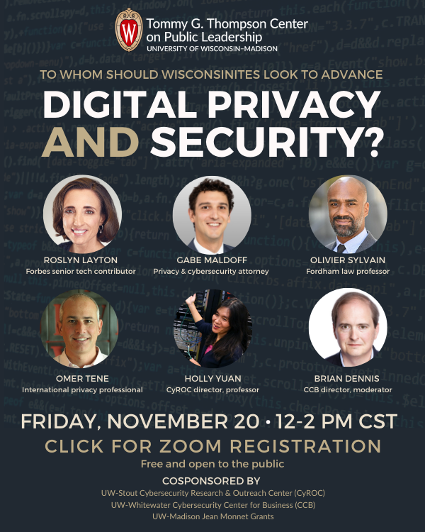 digital privcy and security event flyer