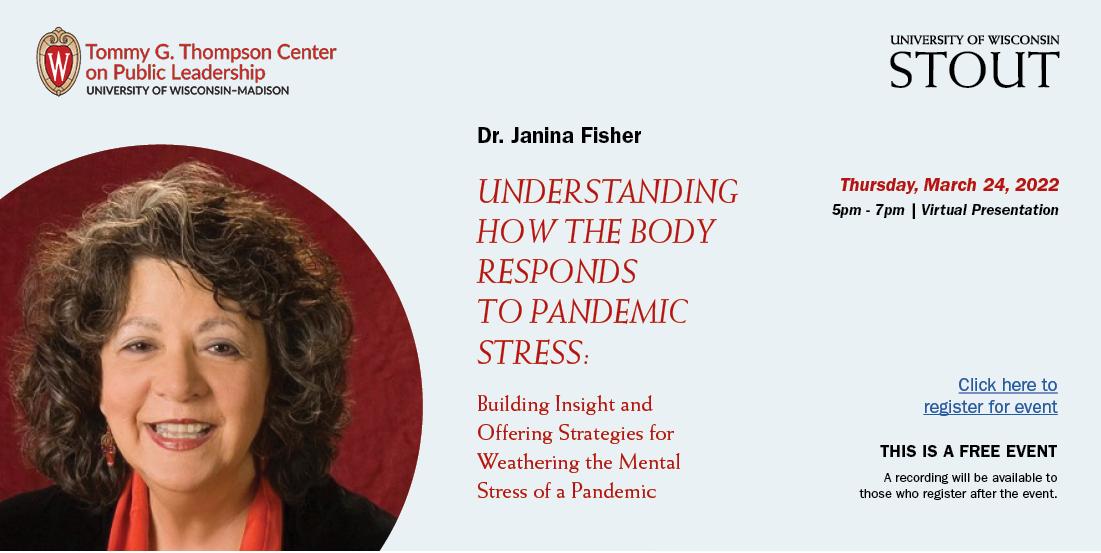Janina Fisher headshot & event details