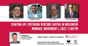 Venture Capital Event Logistics and speaker headshots